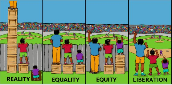 Reality, Equality, Equity, and Liberation Infographic