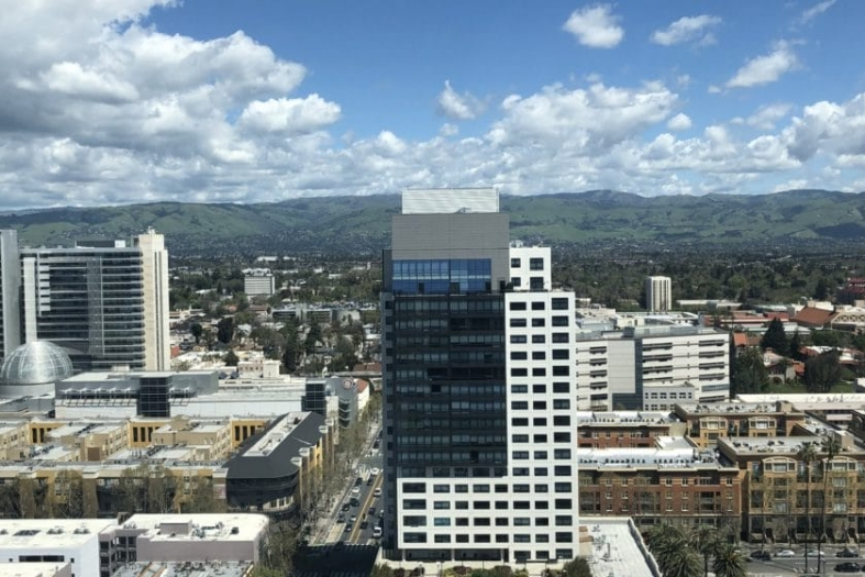 An aerial view of downtown San Jose. Image by Janice Bitters